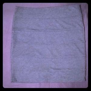 Heather Grey Banded Mini Skirt